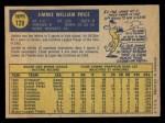 1970 O-Pee-Chee #129  Jim Price  Back Thumbnail