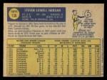 1970 O-Pee-Chee #136  Steve Hargan  Back Thumbnail