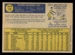 1970 O-Pee-Chee #138  Joe Foy  Back Thumbnail