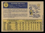 1970 O-Pee-Chee #184  Ray Fosse  Back Thumbnail