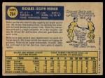 1970 O-Pee-Chee #264  Rich Hebner  Back Thumbnail
