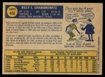 1970 O-Pee-Chee #446  Billy Grabarkewitz  Back Thumbnail