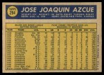 1970 O-Pee-Chee #294  Jose Azcue  Back Thumbnail