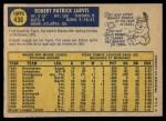 1970 O-Pee-Chee #438  Pat Jarvis  Back Thumbnail