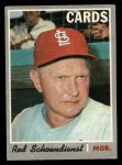 1970 O-Pee-Chee #346  Red Schoendienst  Front Thumbnail