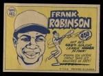1970 O-Pee-Chee #463   -  Frank Robinson All-Star Back Thumbnail