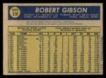 1970 O-Pee-Chee #530  Bob Gibson  Back Thumbnail