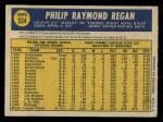 1970 O-Pee-Chee #334  Phil Regan  Back Thumbnail