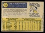 1970 O-Pee-Chee #209  Ken Suarez  Back Thumbnail