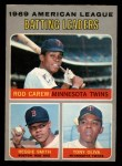 1970 O-Pee-Chee #62   -  Rod Carew / Tony Oliva / Reggie Smith AL Batting Leaders Front Thumbnail