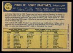 1970 O-Pee-Chee #513  Preston Gomez  Back Thumbnail