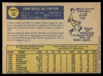 1970 O-Pee-Chee #52  Bruce Dal Canton  Back Thumbnail
