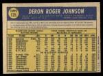 1970 O-Pee-Chee #125  Deron Johnson  Back Thumbnail