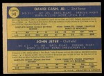 1970 O-Pee-Chee #141   -  Dave Cash / Johnny Jeter Pirates Rookies Back Thumbnail
