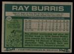 1977 Topps #190  Ray Burris  Back Thumbnail