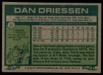 1977 Topps #23  Dan Driessen  Back Thumbnail