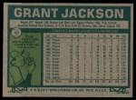 1977 Topps #49  Grant Jackson  Back Thumbnail
