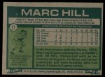 1977 Topps #57  Marc Hill  Back Thumbnail