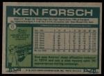 1977 Topps #21  Ken Forsch  Back Thumbnail