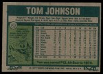 1977 Topps #202  Tom Johnson  Back Thumbnail