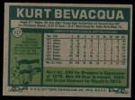 1977 Topps #317  Kurt Bevacqua  Back Thumbnail