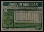 1977 Topps #67  Joaquin Andujar  Back Thumbnail