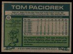 1977 Topps #48  Tom Paciorek  Back Thumbnail
