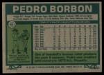 1977 Topps #581  Pedro Borbon  Back Thumbnail