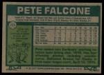 1977 Topps #205  Pete Falcone  Back Thumbnail