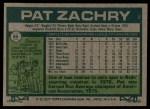 1977 Topps #86  Pat Zachry  Back Thumbnail