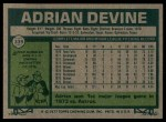 1977 Topps #339  Adrian Devine  Back Thumbnail