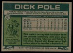 1977 Topps #187  Dick Pole  Back Thumbnail