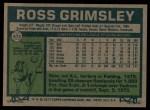 1977 Topps #572  Ross Grimsley  Back Thumbnail