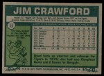 1977 Topps #69  Jim Crawford  Back Thumbnail