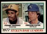 1978 Topps #204   -  Frank Taveras / Freddie Patek SB Leaders  Front Thumbnail
