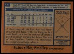 1978 Topps #471  Roy Smalley  Back Thumbnail