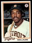 1978 Topps #480  Ron LeFlore  Front Thumbnail
