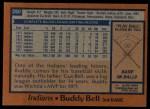 1978 Topps #280  Buddy Bell  Back Thumbnail