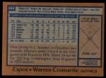 1978 Topps #468  Warren Cromartie  Back Thumbnail