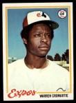 1978 Topps #468  Warren Cromartie  Front Thumbnail