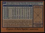 1978 Topps #221  Chris Speier  Back Thumbnail