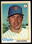 1978 Topps #334  John Stearns  Front Thumbnail