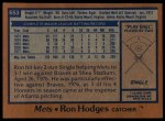 1978 Topps #653  Ron Hodges  Back Thumbnail