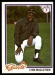 1978 Topps #581  Lynn McGlothen  Front Thumbnail