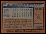 1978 Topps #534  Wilbur Howard  Back Thumbnail