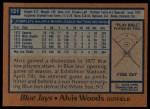 1978 Topps #121  Alvis Woods  Back Thumbnail