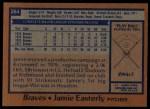 1978 Topps #264  Jamie Easterly  Back Thumbnail