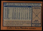 1978 Topps #175  Jerry Morales  Back Thumbnail