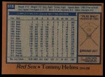 1978 Topps #618  Tommy Helms  Back Thumbnail