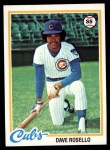 1978 Topps #423  Dave Rosello  Front Thumbnail
